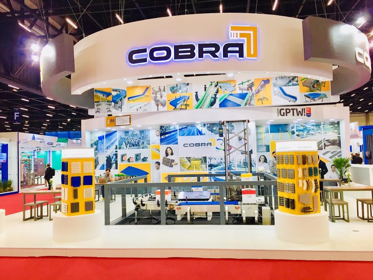 Esteiras Transportadoras COBRA Correntes impactam positivamente a FISPAL Tecnologia